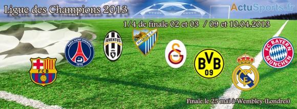 Quart de finale - 8 clubs pour former les 4 duels tirage au sort le 15 mars