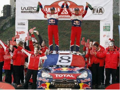 Ici Sébastien Loeb lors de son huitième sacre