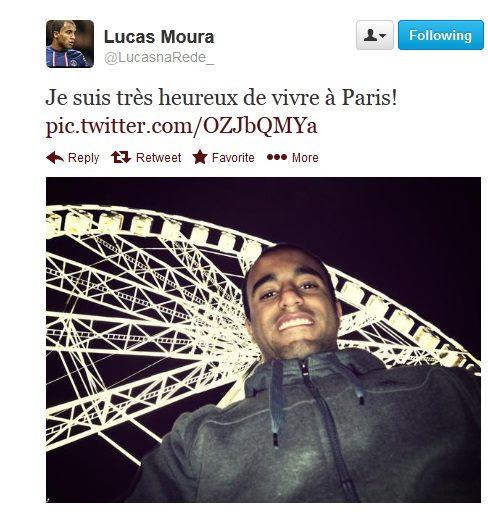 Lucas Moura Fifa: PSG : Lucas Moura Adore La Concorde (Twitter