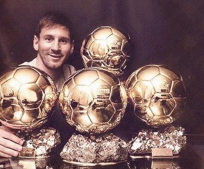 messi 4 ballons d'or