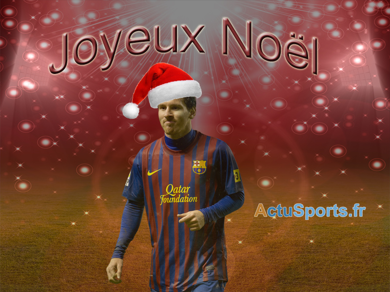 Fond Messi Pere Noel Football Sports Le Meilleur En Video