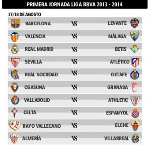 calendrier liga 2013-2014 Première journée de Liga dévoilée
