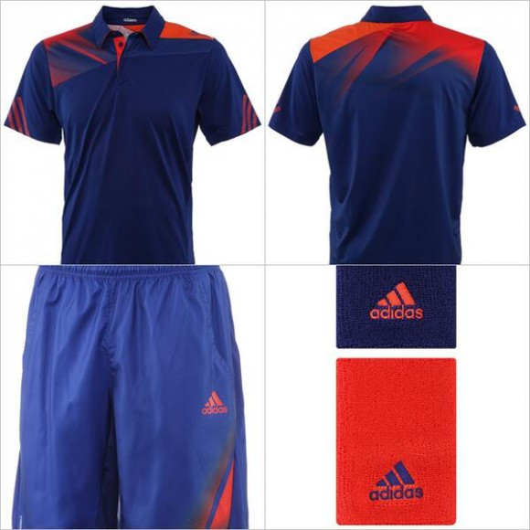 jo wilfried tsonga tenue us open 2013 adidas photo. Black Bedroom Furniture Sets. Home Design Ideas