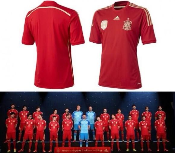 Maillot de l'Espagne pour la Coupe du Monde 2014