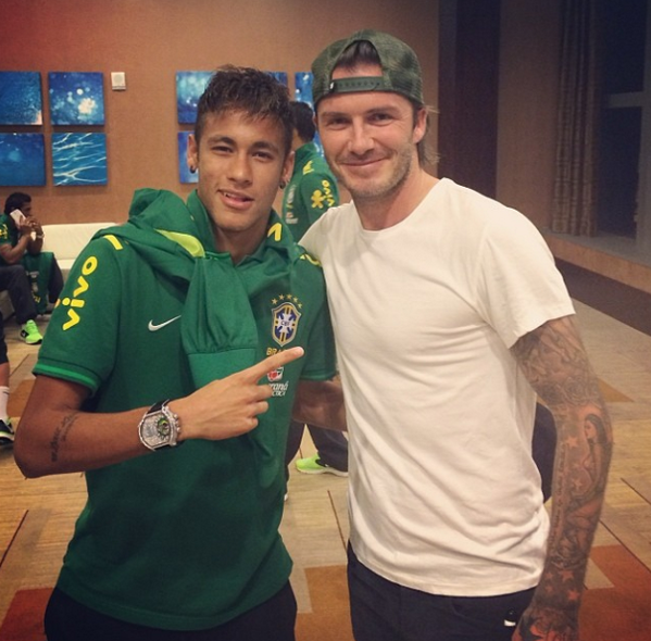 ¿Cuánto mide David Beckham? - Real height Neymar