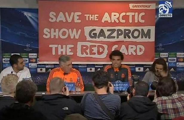 Greenpeace Gazprom Real Madrid