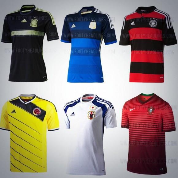 Les maillots du mondial 2014 allemagne portugal espagne - Maillot allemagne coupe du monde 2014 ...