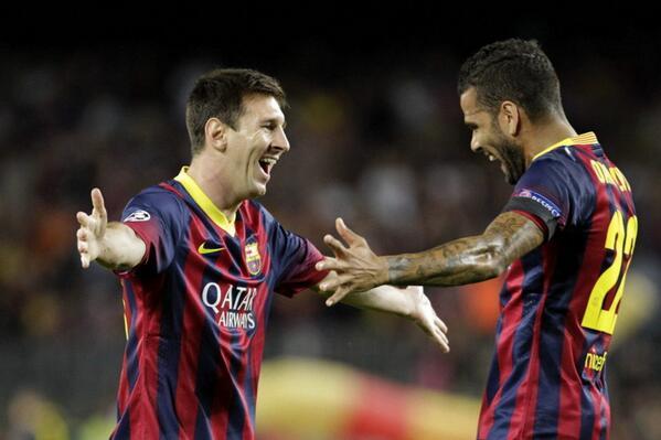 Lionel Messi et Dani Alves