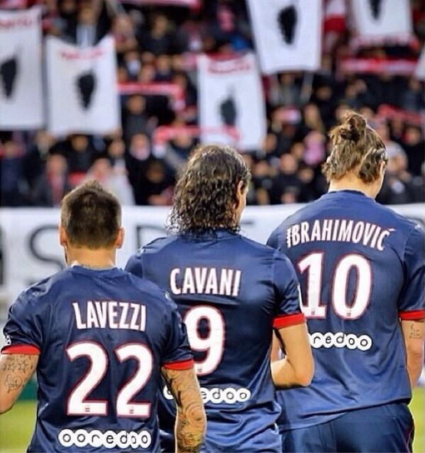 buts de Zlatan et de Cavani
