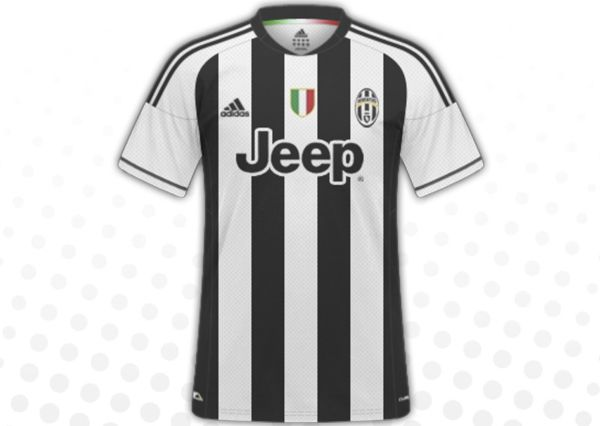 le maillot domicile 2014 2015 de la juventus turin. Black Bedroom Furniture Sets. Home Design Ideas