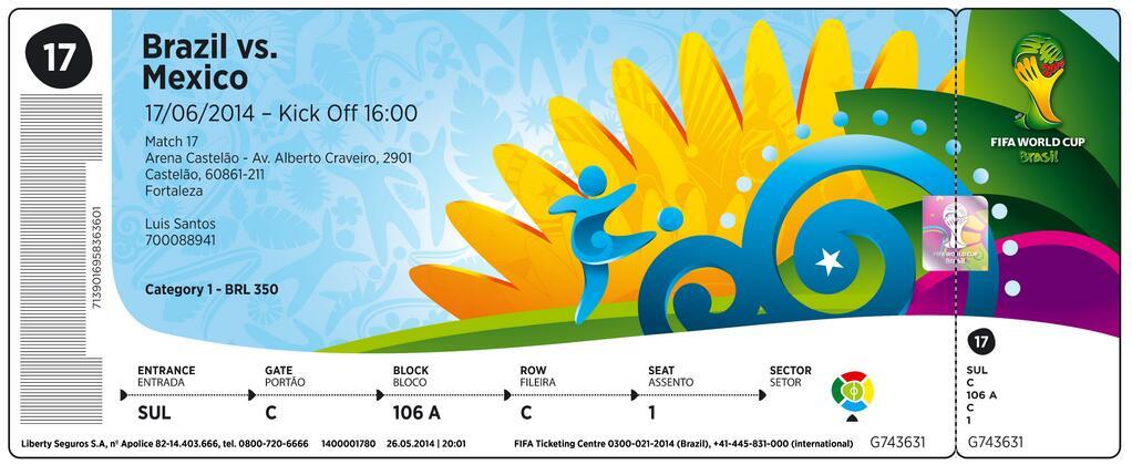 Billet coupe du monde 2014 image officielle - Billet coupe du monde 2015 ...