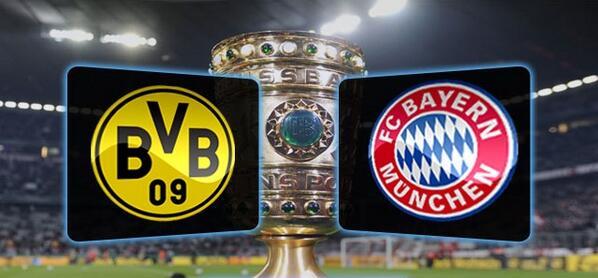 Compos Borussia Dortmund-Bayern Munich Finale de la Coupe d'Allemagne