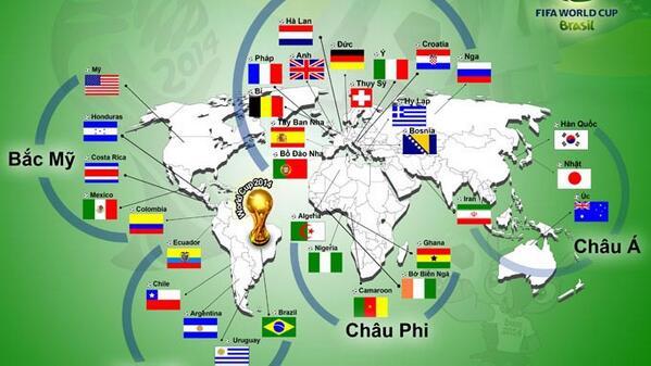 Tous les pays participants la coupe du monde 2014 - Jeux de football coupe du monde 2014 ...