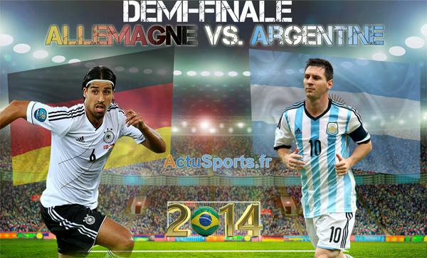Finale allemagne argentine coupe du monde 2014 13 juillet - Coupe du monde 2014 bresil allemagne ...