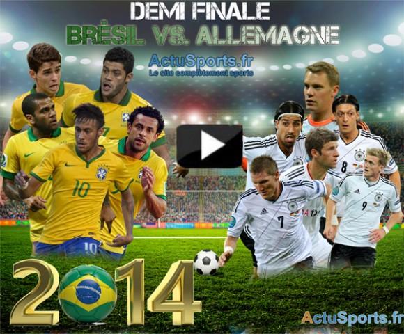 streaming Brésil-Allemagne