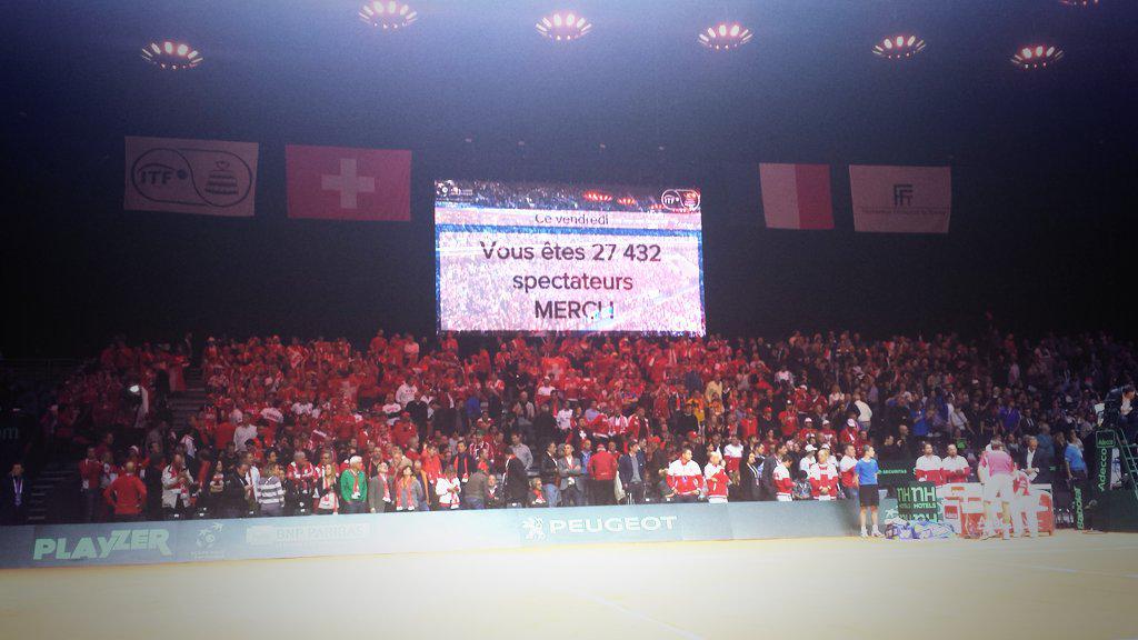 nombre de spectateur record à Lille Finale Coupe DAvis 2014