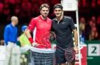 Federer Wawrinka match for africa