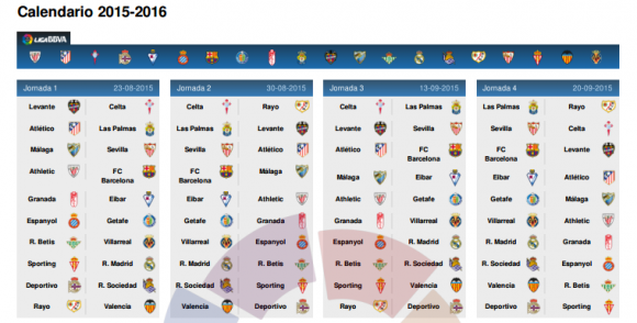 Calendrier Real Madrid 2015 2016 | Search Results | Calendar 2015
