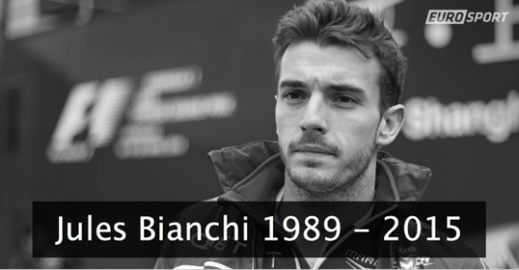 Décès de Jules Bianchi