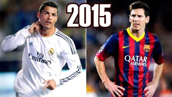 Rivalité de Lionel Messi vs Cristiano Ronaldo en 2015