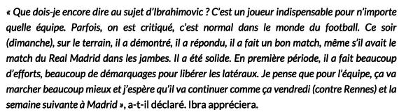 déclaration de Thiago Silva sur Zlatan Ibrahimovic