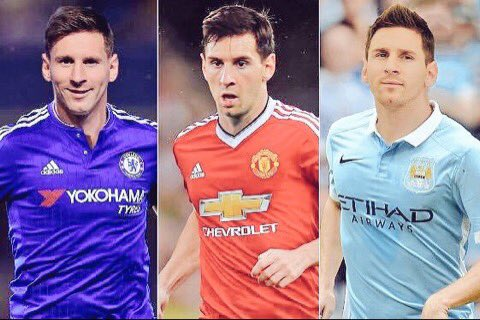 Lionel Messi Manchester premier league