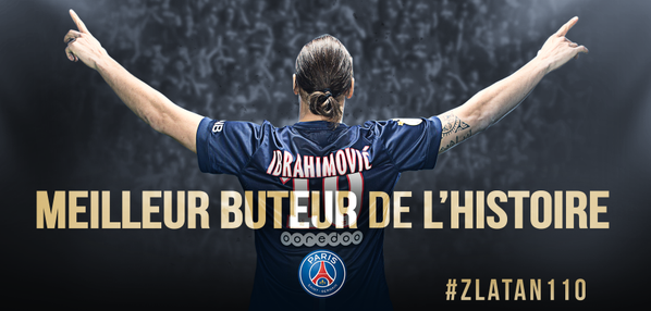zlatan Ibrahimovic meilleur buteur de l'histoire du PSG après 3 ans