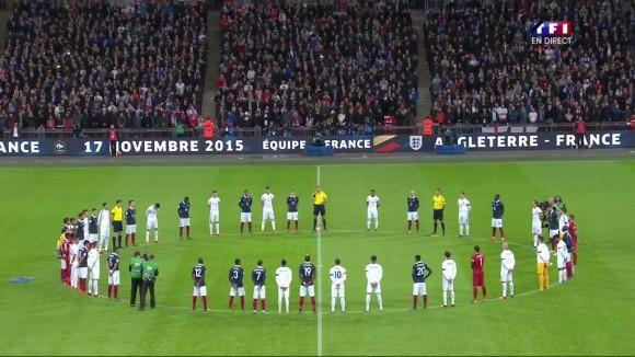 Minute de Silence Wembley angleterre france unité