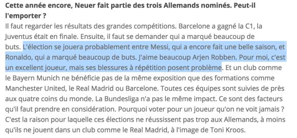 ballon d'or 2015 FIFA oliver Kahn