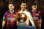 ballon 'dor pour Messi Neymar et Cristiano Ronaldo