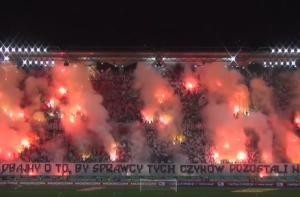 tifo pyro show pologne