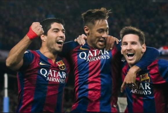 FC BArcelone vainqueur Ligue des Champions 2016 avec son trio MSN