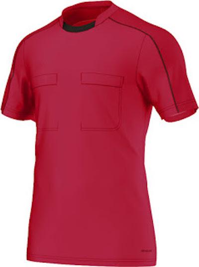 maillot de l'euro 2016 pour les arbitres rouge