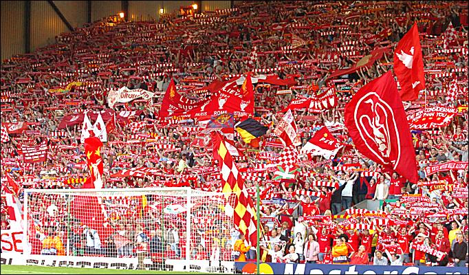 Vidéo supporter Liverpool hymne  you'll never walk alone
